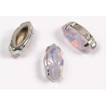 Лодочка Pink Opal в оправе (хрусталь)